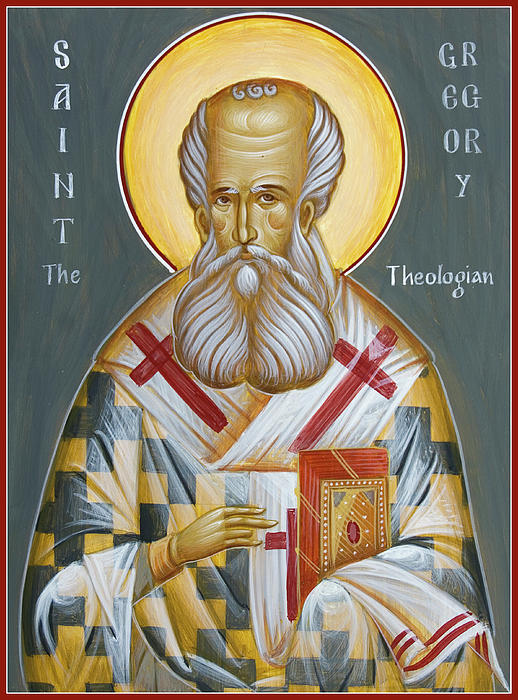 St Gregory The Theologian Print by Julia Bridget Hayes