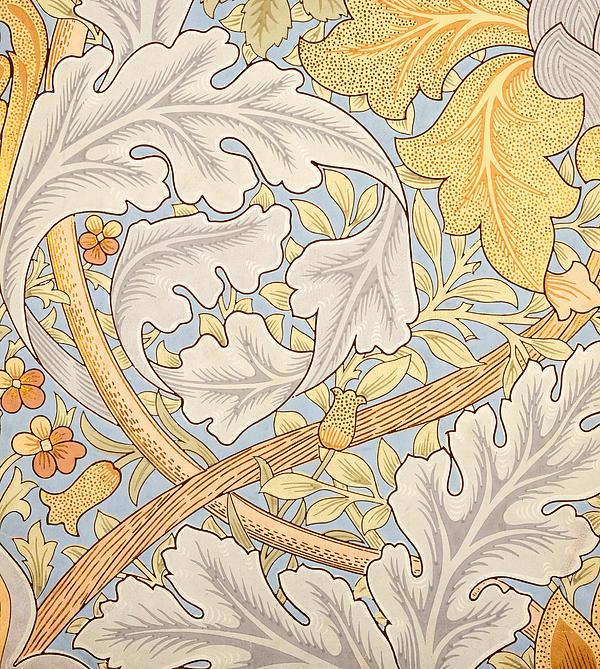 St James Wallpaper Design Print by William Morris