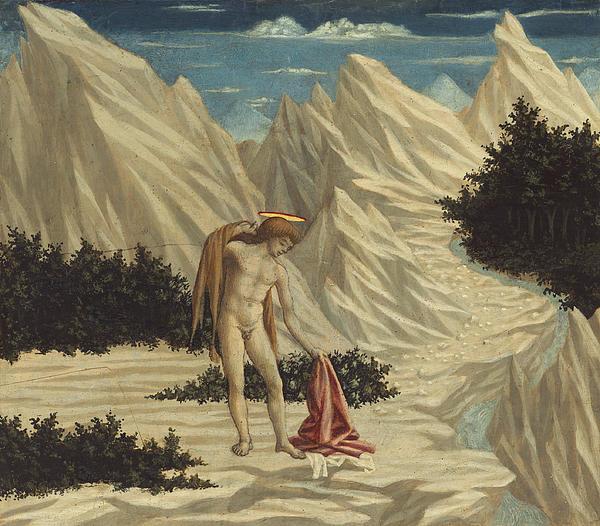 St. John In The Desert Print by Domenico Veneziano