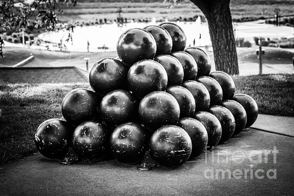 St. Joseph Michigan Cannon Balls Picture Print by Paul Velgos