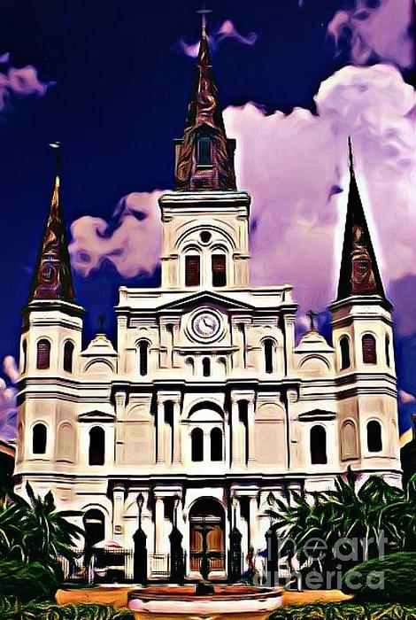 St Louis Cathedral In New Orleans Print by John Malone