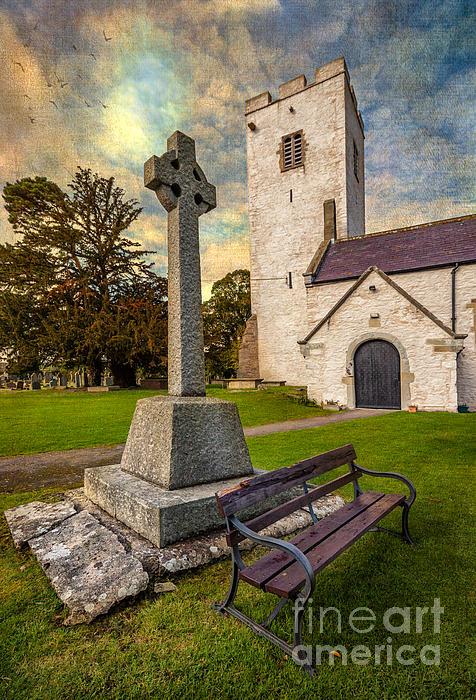 St. Marcellas Celtic Cross Print by Adrian Evans
