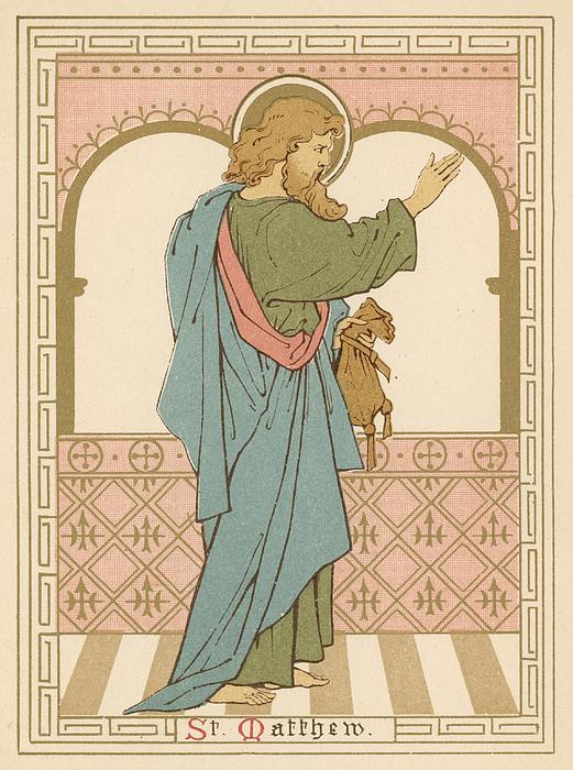 St Matthew Print by English School