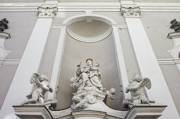 St Michael Church Sculptures In Budapest Print by Artur Bogacki