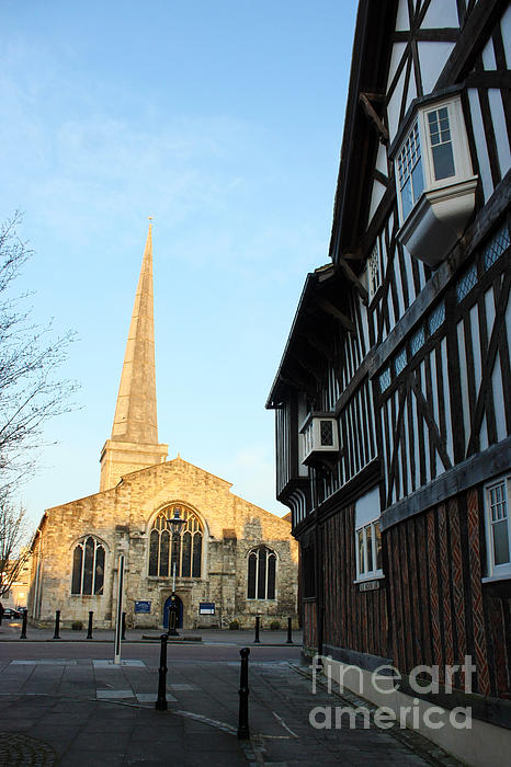 St Michael's Church And Tudor House Southampton Print by Terri  Waters