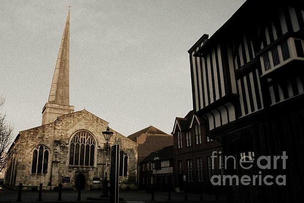 St Michaels Square Southampton Print by Terri  Waters