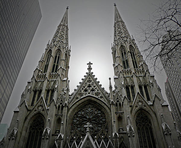 St. Patricks Cathedral  Print by Angela Wright