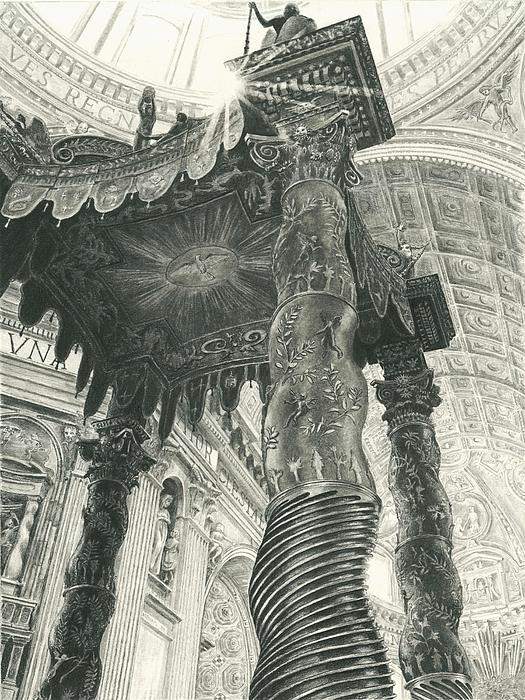 St. Peters Basilica  Print by Norman Bean