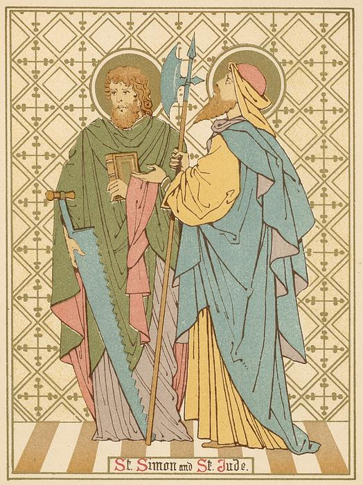 St Simon And St Jude Print by English School