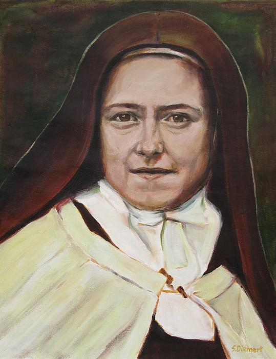 St. Therese Of Lisieux Print by Sheila Diemert
