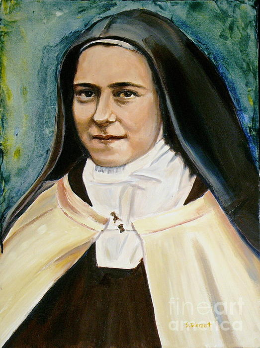 St. Therese Print by Sheila Diemert