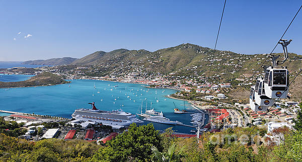 St Thomas Panorama Print by George Oze