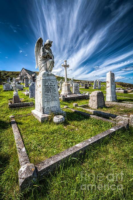St Tudno Graveyard Print by Adrian Evans