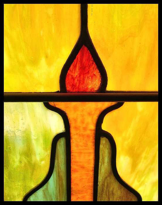 Stained Glass 8 Print by Tom Druin