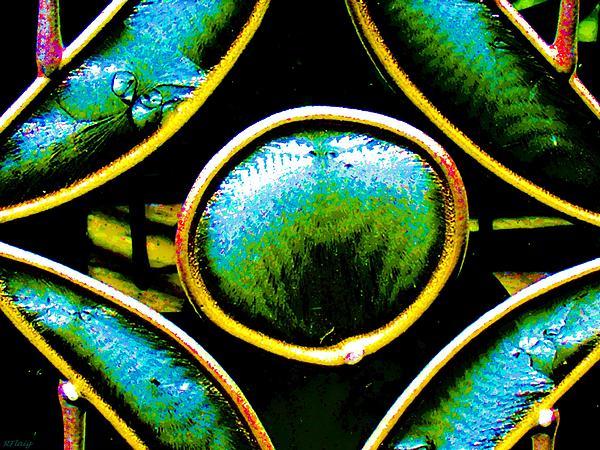 Stained Glass Eye Print by Rebecca Flaig