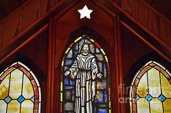Stained Glass Saviour Print by Al Powell Photography USA