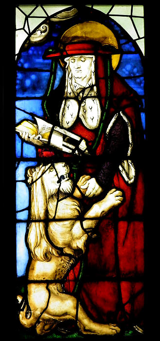 Stained Glass Window C Freiburg Im Breisgau Print by Leone M Jennarelli