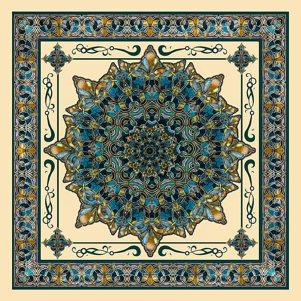 Deborah Smith - Stained Glass WIndow Frame Mandala