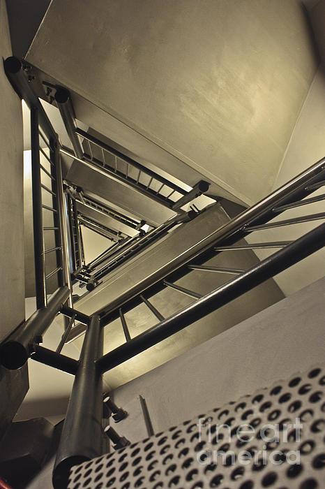 Stairing Up The Spinnaker Tower Print by Terri  Waters