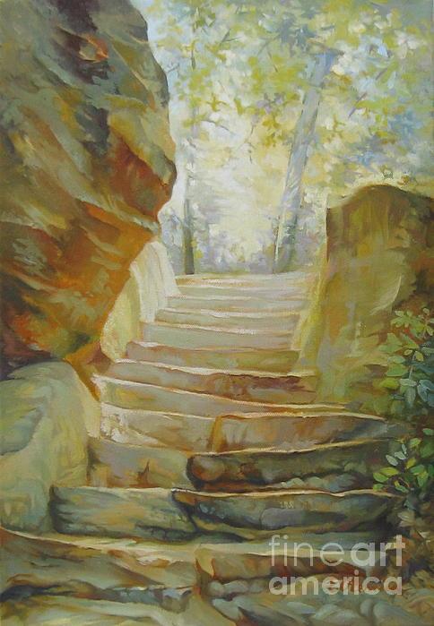 Stairs Print by Elena Oleniuc