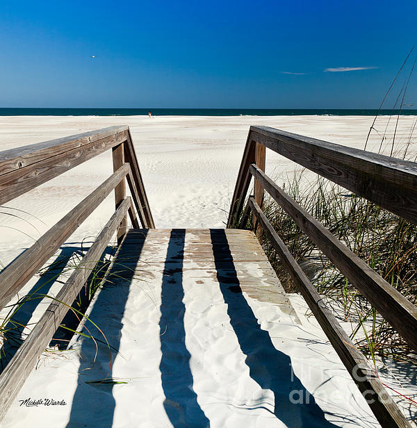 Stairway To Happiness And Possibilities Print by Michelle Wiarda