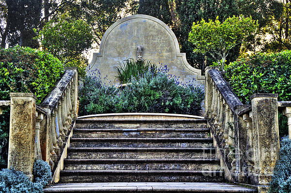 Stairway To Nowhere Print by Kaye Menner