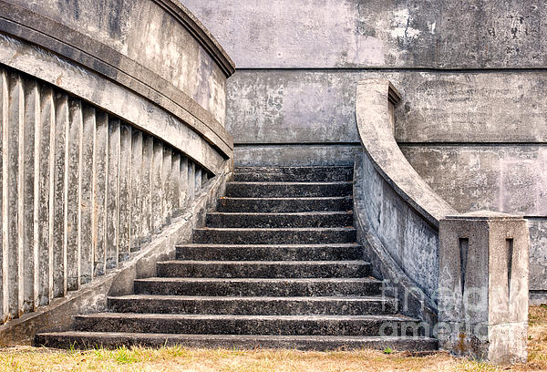 Stairway To The Unknown Print by Sandra Bronstein
