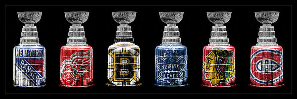 Stanley Cup Original Six Print by Andrew Fare