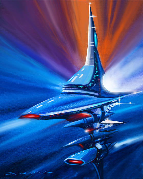 Star Drive Print by James Christopher Hill