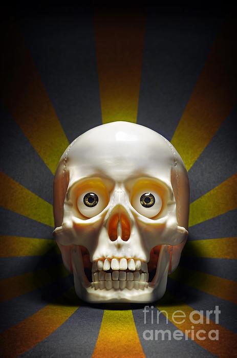 Staring Skull Print by Carlos Caetano