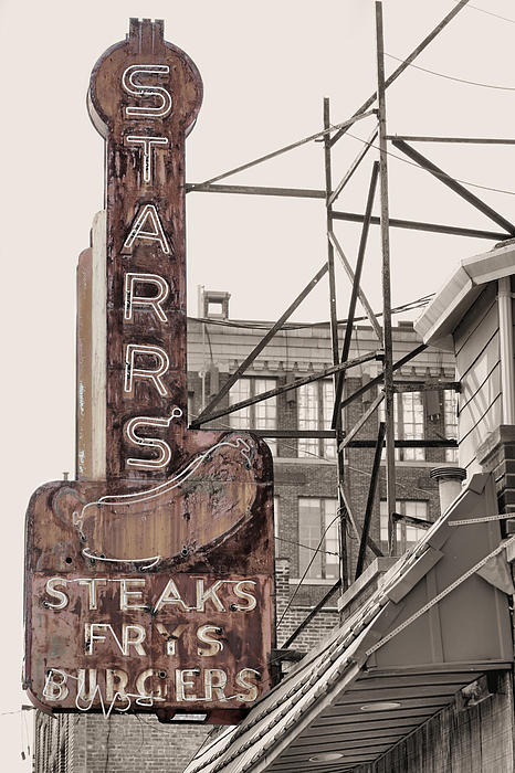 Stars Steaks Frys And Burgers Print by JC Findley