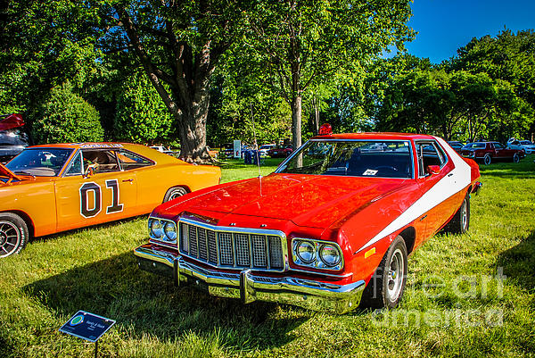 Starsky And Hutch Ford Gran Torino Print by Grace Grogan