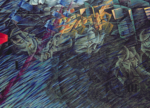 States Of Mind    Those Who Go Print by Umberto Boccioni