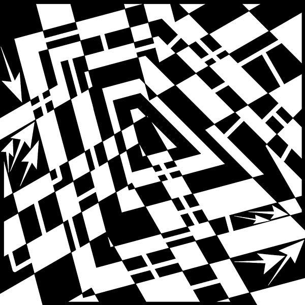 Static Formations Maze Print by Yonatan Frimer Maze Artist