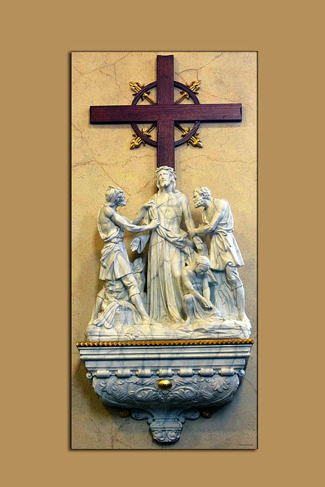 Station Of The Cross 10 Print by Thomas Woolworth
