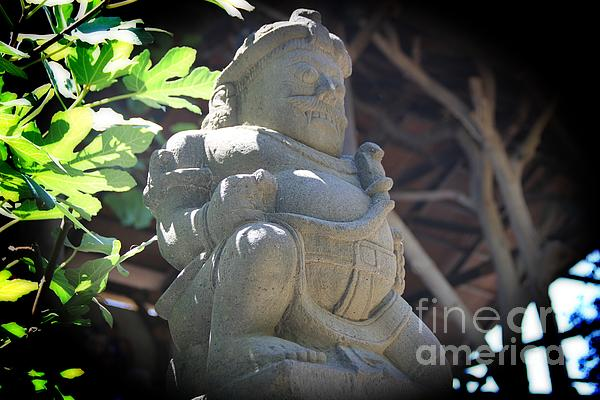 Statue In The Sun Print by Jackie Mestrom