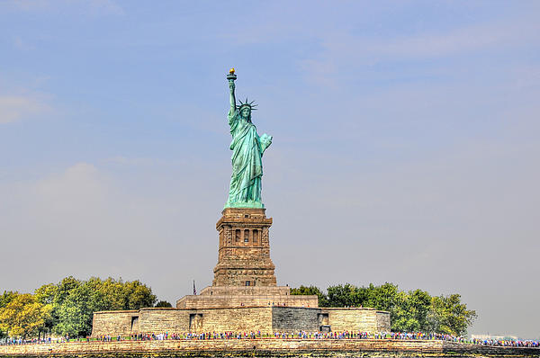 Statue Of Liberty Macro View Print by Randy Aveille