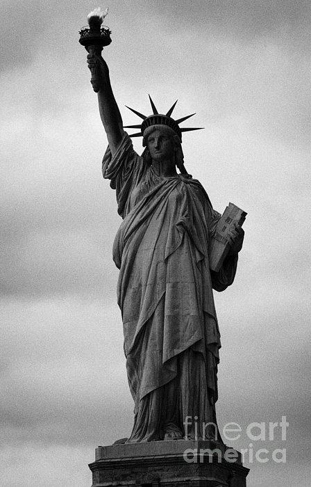 Statue Of Liberty National Monument Liberty Island New York City Nyc Usa Print by Joe Fox