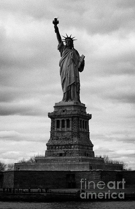 Statue Of Liberty National Monument Liberty Island New York City Usa Print by Joe Fox