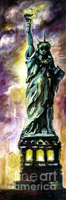 Statue Of Liberty Part 4 Print by Ginette Callaway