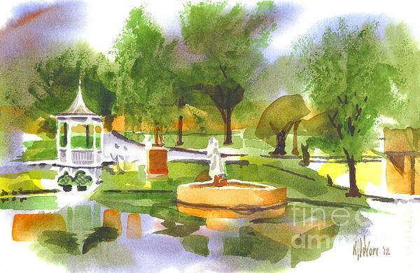 Kip DeVore - Ste Marie du Lac in Watercolor II