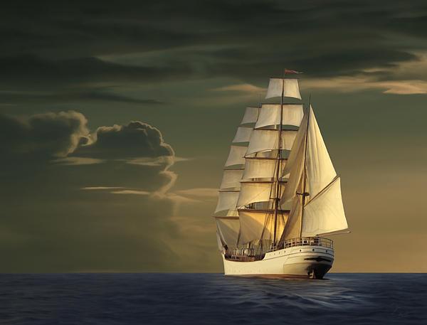 Steadfast Voyage Print by James Charles