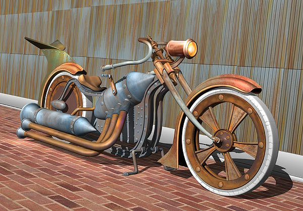 Steam Chopper Print by Stuart Swartz