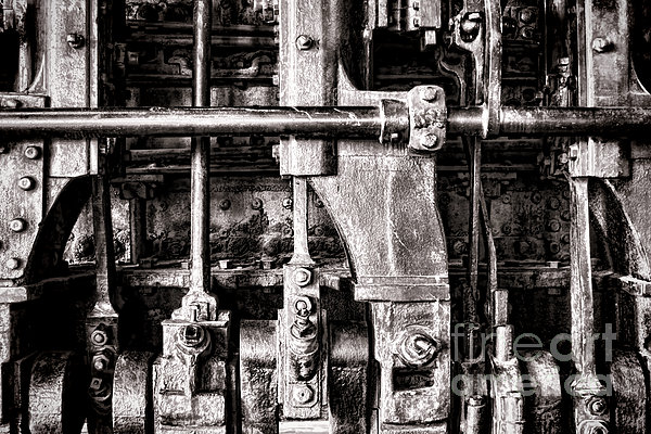 Steam Engine Print by Olivier Le Queinec