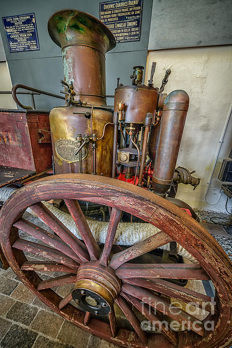 Steam Fire Engine Print by Adrian Evans