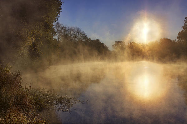 Steam On The Water Print by Jason Politte