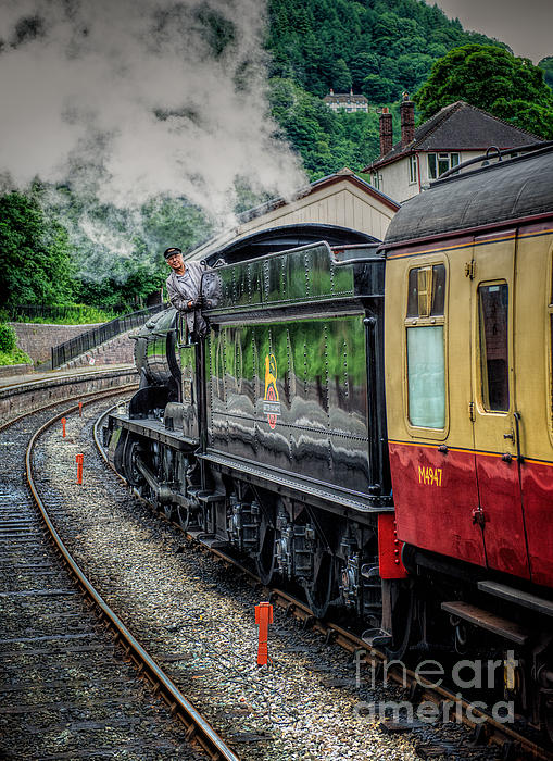 Steam Train 3802 Print by Adrian Evans