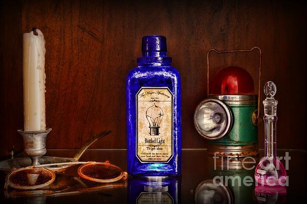 Steampunk Bottled Light Print by Paul Ward