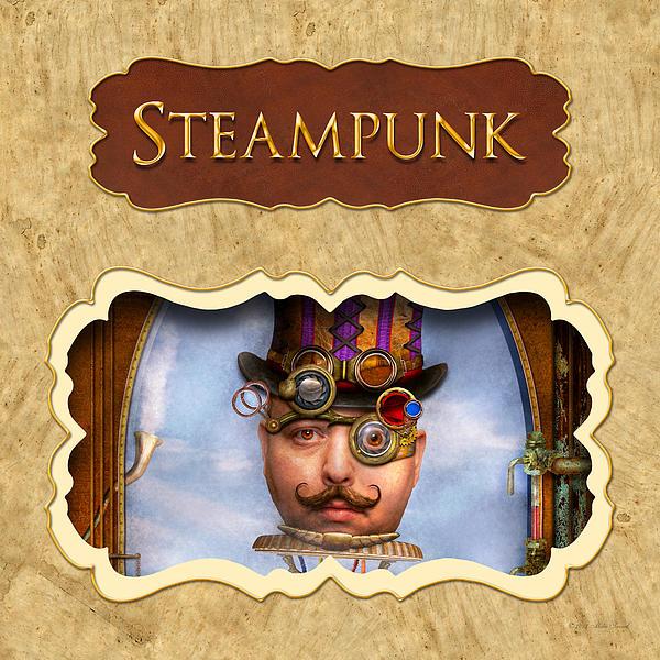 Steampunk Button Print by Mike Savad