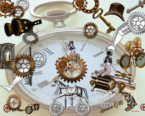 Steampunk Print by Cheryl Young